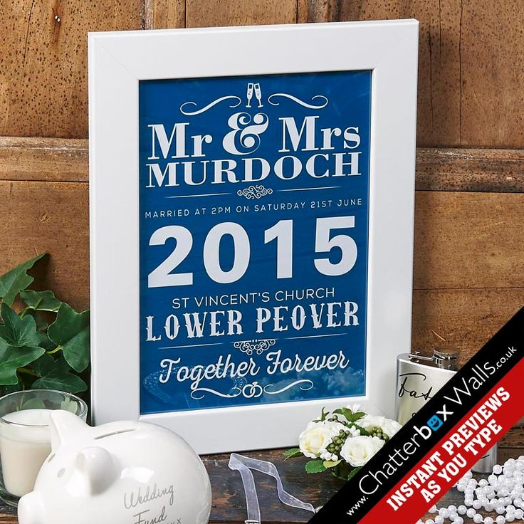 Personalised Wedding Day Framed print