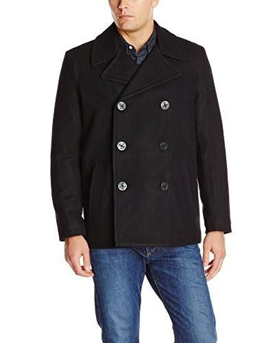 Levi's Men's Wool Classic Double-Breasted Wool-Blend Peacoat