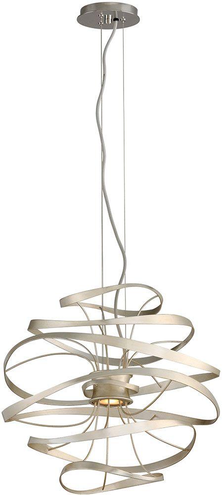 corbett calligraphy modern silver leaf led small drop ceiling lighting cor
