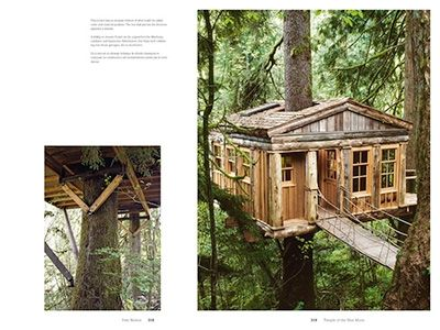 """Pages from """"Tree Houses: Fairy Tale Castles in the Air"""" pub. by Taschen"""