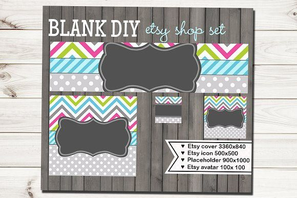 Etsy Chevron Banner Set. Website Templates