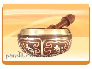 """"""" Singing Bowl """" The singing bowl is considered as an excellent tool for space clearing purposes and its usage in the house improves harmony among family members and the place becomes yang and it creates state of yin yang balance.  http://www.pandit.com/singing-bowl/"""