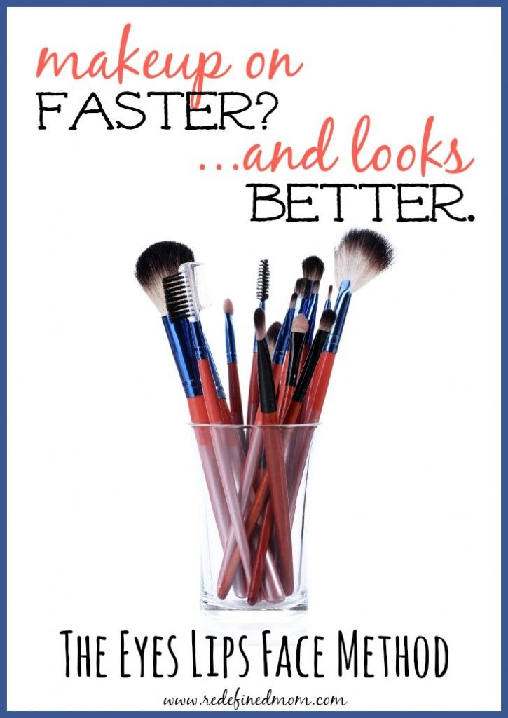 A faster way to put on your makeup has arrived! The Eyes Lips Face Makeup Method | RedefinedMom.com