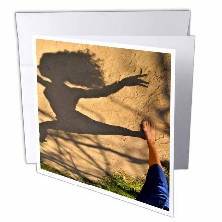 3dRose Picture of a italian descent actress and dancer in Flushing Meadow Park in Queens, Greeting Cards, 6 x 6 inches, set of 12