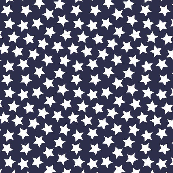 Filc dekoracyjny miękki DRUKOWANY gwiazdki navy - MonartCrafts - Filc