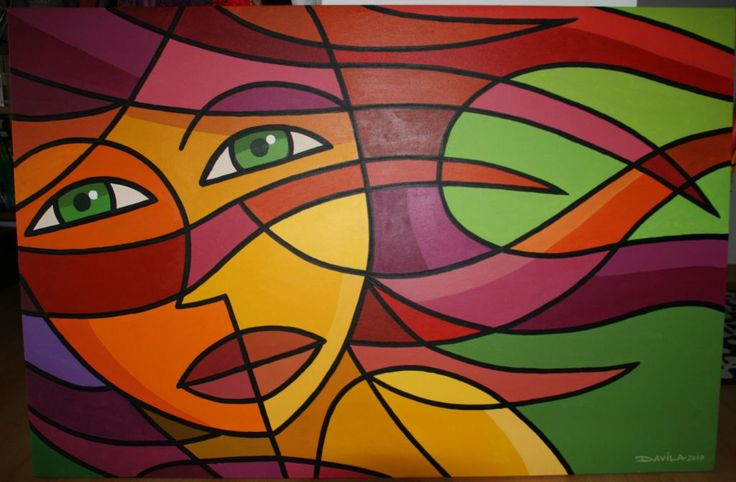 Luis davila acrilico pinturas pinterest b squeda for Imagenes de cuadros abstractos faciles de hacer