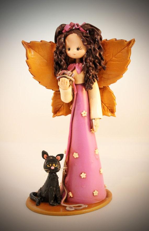 Cat Fairy by fairiesbynuria on Etsy, $39.95