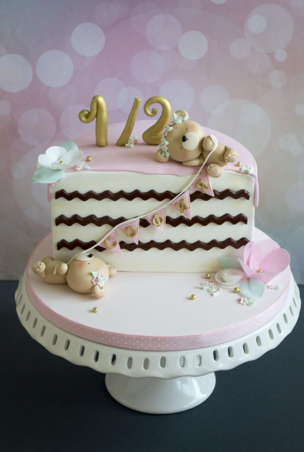 Admirable Half Birthday Cake By Vanilla Me Half Birthday Cakes Baby Funny Birthday Cards Online Overcheapnameinfo