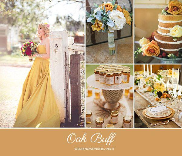 oak buff wedding inspiration http://weddingwonderland.it/2015/05/colori-pantone-autunno-2015-2.html