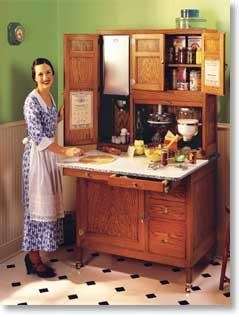 Understand antiques: Antique Hoosier cabinets are a popular addition to any vintage look kitchen. The name Hoosier became synonymous with free standing cabinet and counter combinations, although there were many companies that made them. Want another one...lost my last one :-(