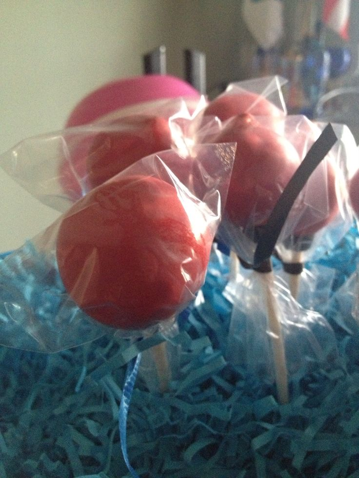 Cake pops---big red balls