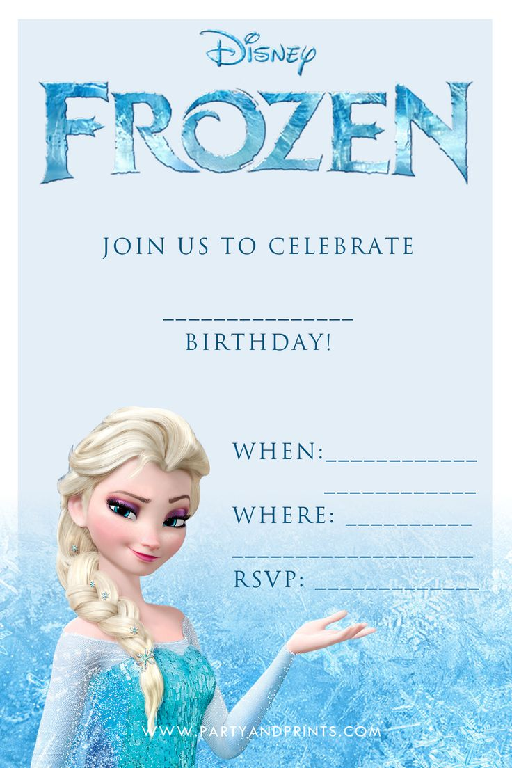 Free printable invitation from www.partyandprints.com really great invitations for your frozen party