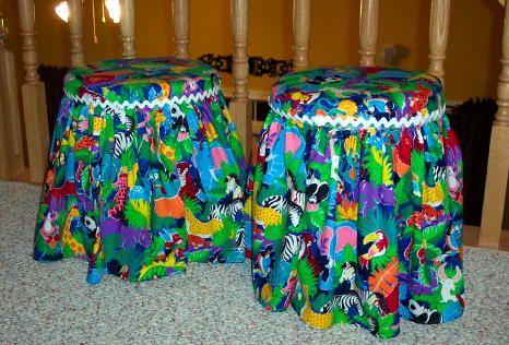 K teacher and made these items with a glue gun and velcro. You get the storage tubs at Home Depot or Lowes.