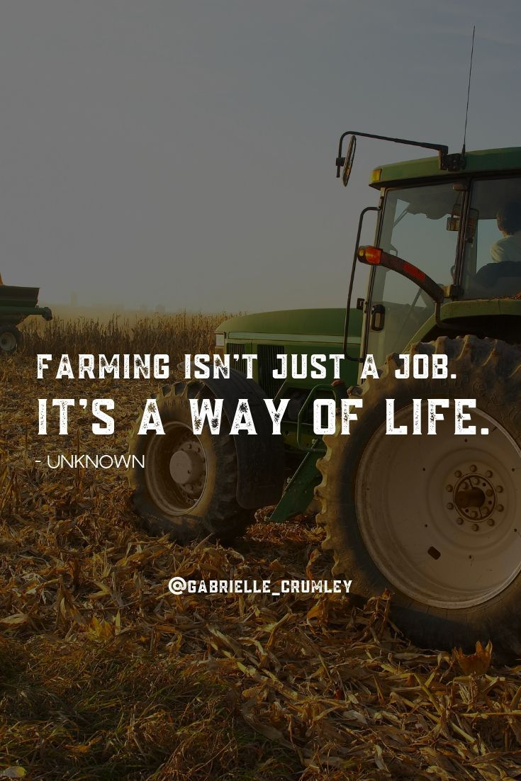 Farming Isn T Just A Job It S A Way Of Life Farming Quotes Farm Quotes Agriculture Quotes Summer Beach Quotes