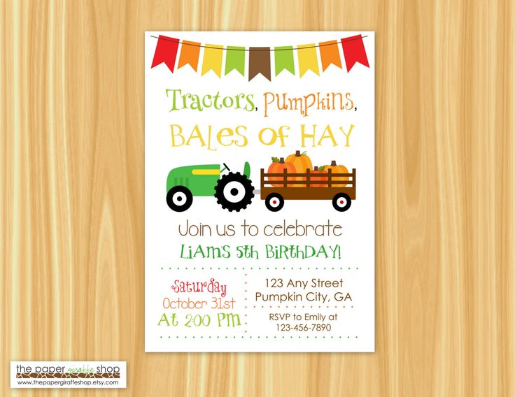 49 best Fall Birthday Parties images – Fall Birthday Party Invitations