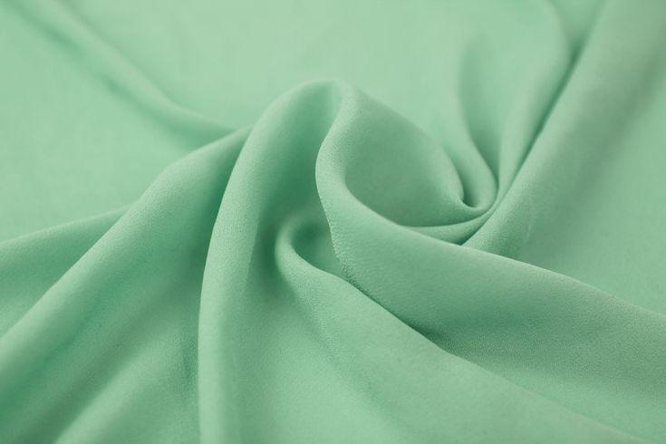 SEAFOAM LIGHT Wool Dobby Chiffon Fabric Wedding by StylishFabric