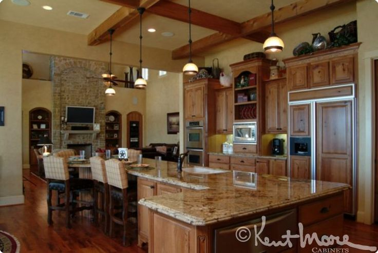 custom kitchen cabinets by kent moore cabinets rustic hickory wood with golden nutmeg stain with brown glaze finish cabinetry pinterest stains. beautiful ideas. Home Design Ideas