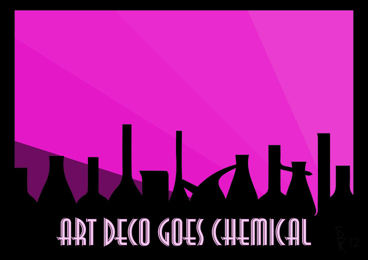 Art deco chemical poster