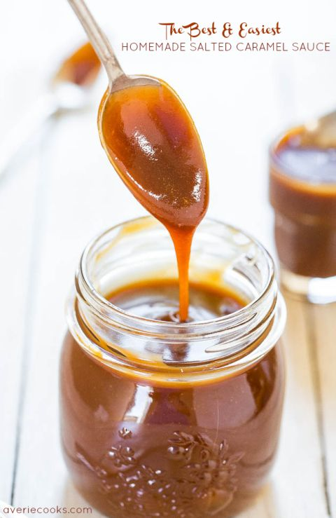 The Best & Easiest Homemade Salted Caramel Sauce - Ready in 15 minutes & tastes 1000x better than any storebought sauce ever could!
