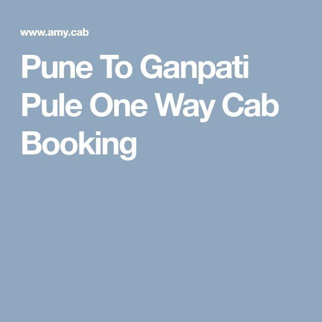 Pune To Ganpati Pule One Way Cab Booking