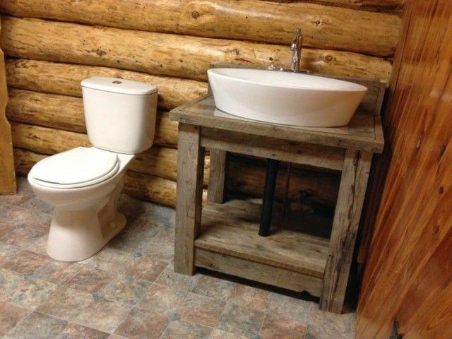 Decoración baños rústicos: recipientes                                                                                                                                                                                 Más