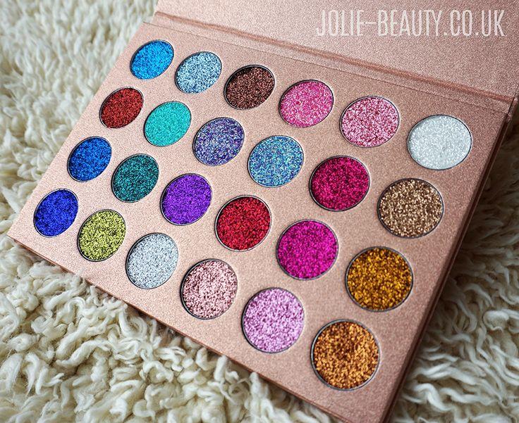 BOMB DOT COM palette from Jolie Beauty.co.uk A cruelty free, festival makeup palette! 24 shades. https://jolie-beauty.co.uk/products/bomb-dot-com-24-shade-glitter-eye-palette