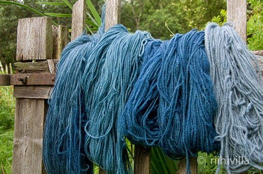 Dyeing, Dyeing with natural dyes: Indigo