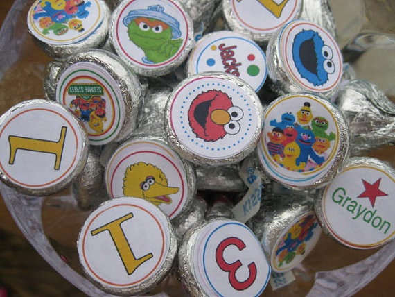 Sesame Street  Elmo personalized candy by Cupcakeqtscelebrate, $9.95