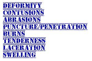 DCAPBTLS acronym when performing a patient assessment