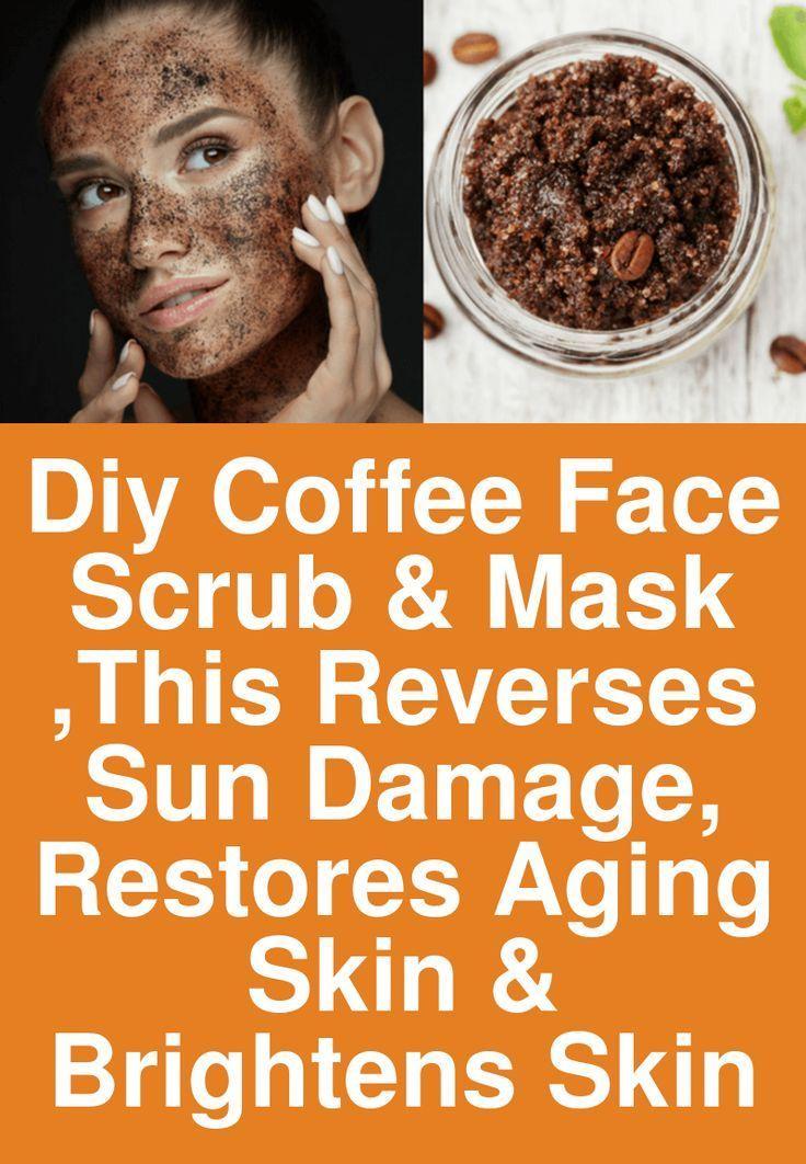 DIY Coffee Face Scrub & Mask Dies behebt Sonnenschäden und stellt die alternde Haut und Brig wieder her