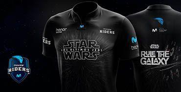 La camiseta de la Star Wars: Los últimos Jedi, en el Club Movistar Riders http://www.mayoristasinformatica.es/blog/la-camiseta-de-la-star-wars-los-ultimos-jedi-en-el-club-movistar-riders/n4364/