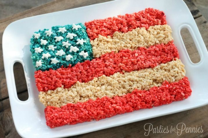 4th of July Dessert by PartiesforPennies.com| Find more unique  inexpensive entertaining ideas on PartiesforPennies.com