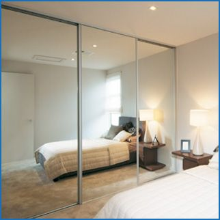 My husband and I are doing a remodel on our master bedroom, and we need to find a good wardrobe setup. I love this one because of how the mirrors open up the space. I'll definitely look more into getting some of these!
