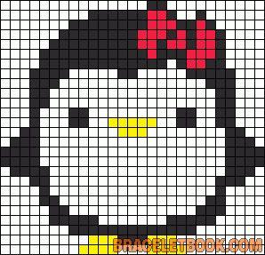 Cute Penguin perler bead pattern