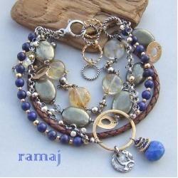 Jewelry made in RAMAJ - brancelet wit lapis lazuli