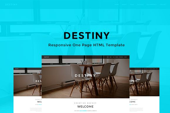 DESTINY - One Page HTML Template by @Graphicsauthor