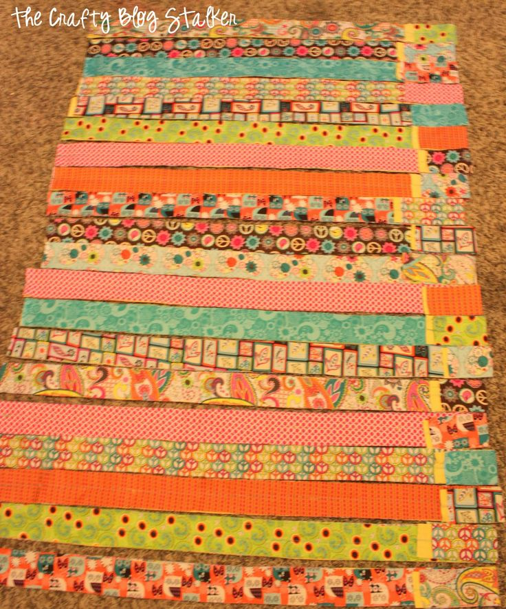 How To Make A Fabric Strip Rag Quilt Colchas