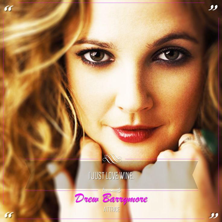 Drew Barrymore is an American actress, model, producer, director and author. She is a descendant of the Barrymore family of well-known American stage and cinema actors. @marchesimazzei #marchesimazzei #fonterutoli #wine #tuscany #winequotes
