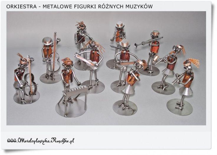 Ale Orkiestra - Metalowe śmieszne figurki Muzyków Hand-made Poland