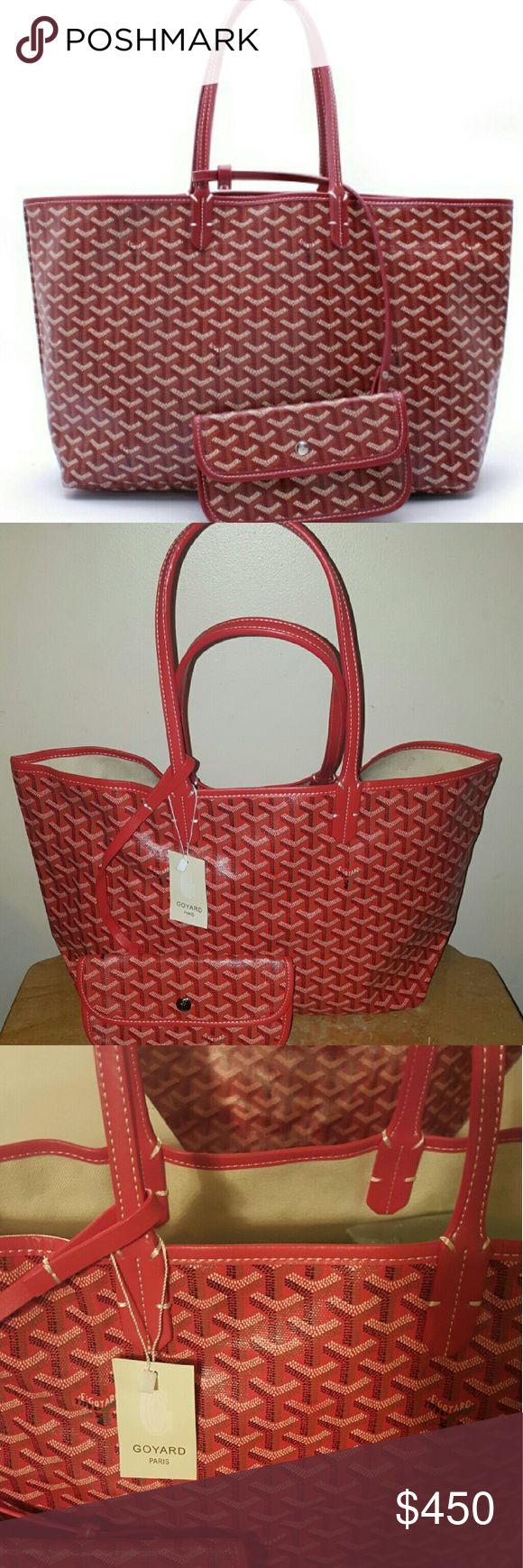 Used goyard bag Red color goyard slightly used like new. goyard Bags Shoulder Bags