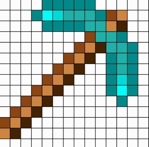 Minecraft diamond pickaxe grid