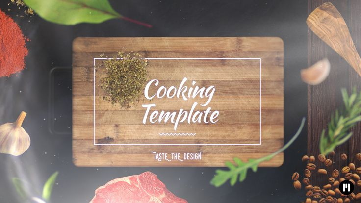 Beautiful Cooking Template! www.motionvfx.com/N2198 #FCPX #FinalCutProX #Motion5 #VideoEditing #Apple #Design