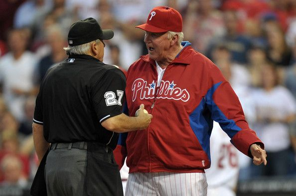 I would love to hear Charlie Manuel bark at the umpires.  #Phillies