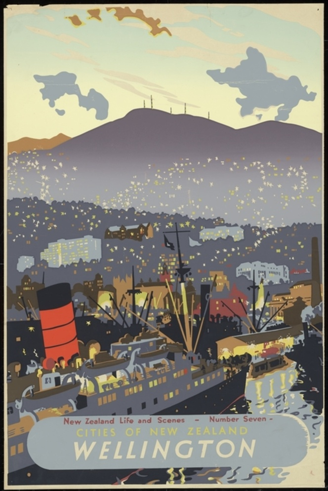 Artist unknown :Cities of New Zealand. Wellington. New Zealand life and scenes - Number Seven. [1940-1950s].