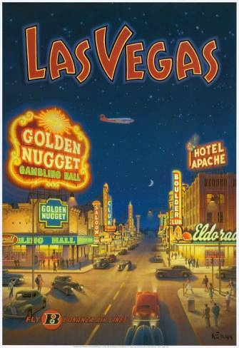 Las Vegas | Vintage travel poster of America