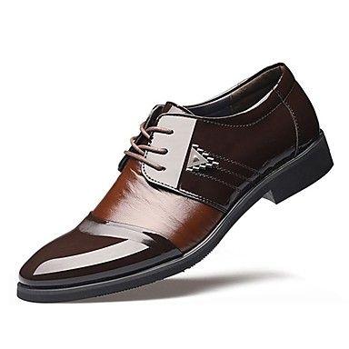 a9eeb22ecee Hombre Zapatos TPU Otoño Invierno Zapatos formales Oxfords Para Boda  Vestido Negro Marrón