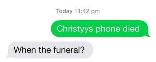 This morbid dad… | 29 Parents Who Are Clearly Way Better At Texting Than Their Kids