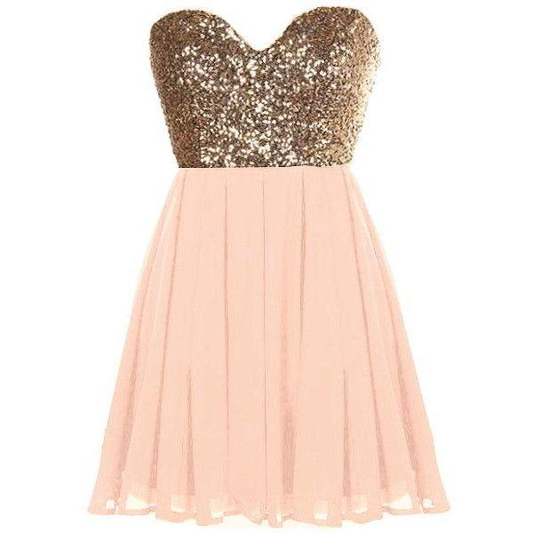 Glitter Fever Dress ($80) ❤ liked on Polyvore featuring dresses, vestidos, robe, short dresses, pink cocktail dress, pink mini dress, gold glitter dress, pink dress and sequin cocktail dresses