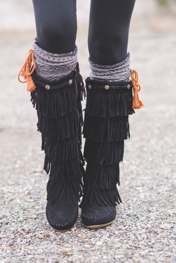 Bohemian Braided Stud Moccasin Boots - NanaMacsBoutique  - 2