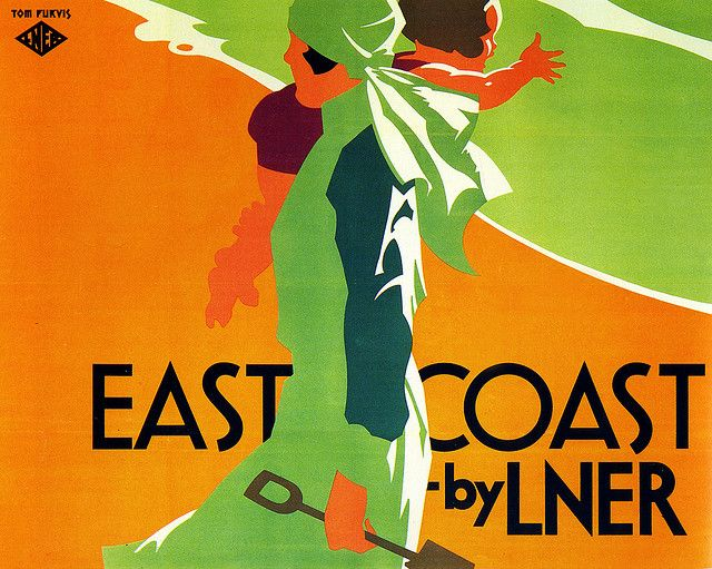 East Coast by LNER    Charming poster by Tom Purvis
